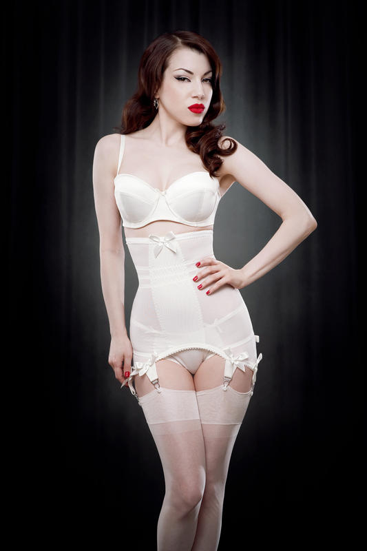 Kiss Me Deadly Longline Girdle - Ivory
